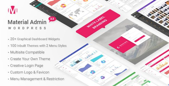 Material v3.2 – White Label WordPress Admin Theme