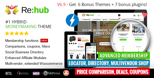 REHub v6.9.2 – Price Comparison, Business Community