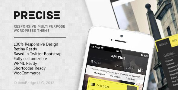 Precise v 1.1.2 – Multipurpose Responsive WordPress Theme