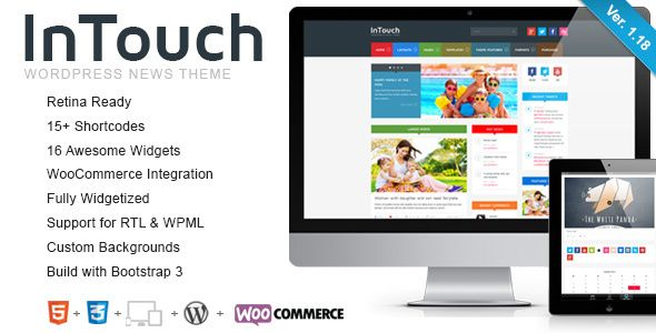 InTouch v1.18 – Themeforest Retina Responsive WP News Theme