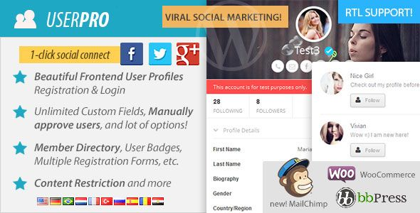 UserPro v4.9.7 – User Profiles with Social Login
