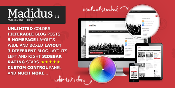 Madidus v1.2.8 – Blog & Magazine Theme