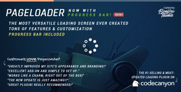 PageLoader v2.5 – Loading Screen and Progress Bar