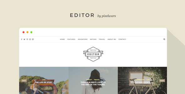 Editor v1.5.6 – WordPress Blogger主题