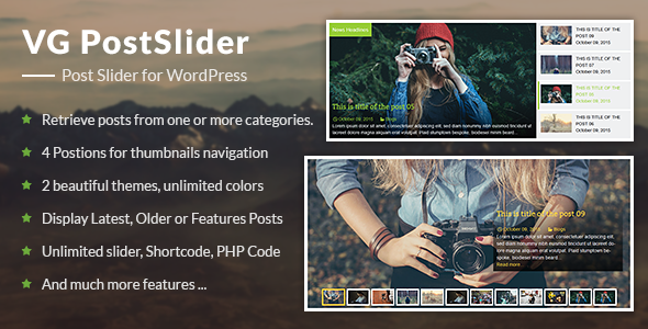 VG PostSlider v1.1 – Post Slider for WordPress
