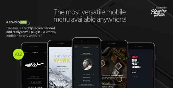 TapTap v3.2 – A Super Customizable WordPress Mobile Menu