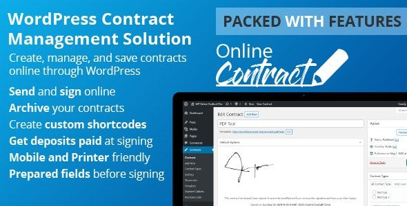 WP Online Contract v5.0.1 - 在线签约插件