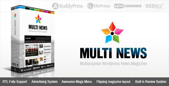 Multinews v2.5.5.2 – Multi-purpose WordPress News, Magazine