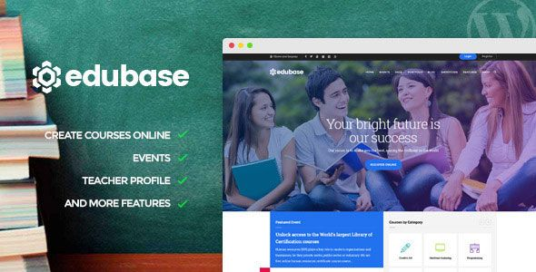 Edubase v1.4.2 – Course, Learning, Event WordPress Theme