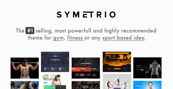 Symetrio v4.8.1 – Gym & Fitness WordPress Theme