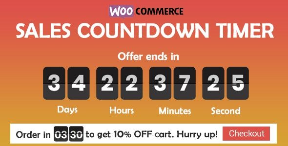 Checkout Countdown v1.0.1.1 – WooCommerce销售倒数计时器