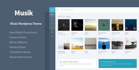 Musik v2.3.3 – Responsive Music WordPress Theme