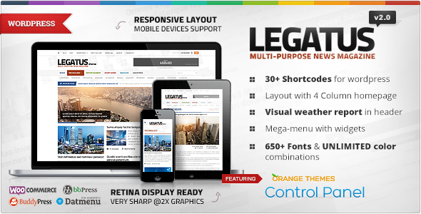 Legatus v2.2.0 – Themeforest Responsive News/Magazine Theme