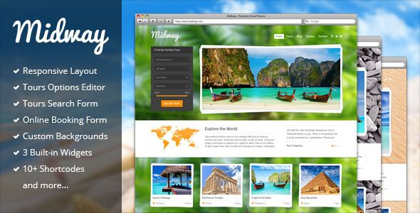 Midway v3.11 – Responsive Travel WP Theme