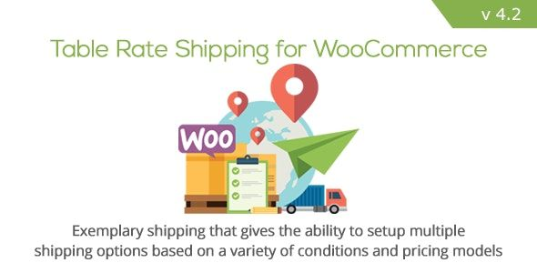 Table Rate Shipping for WooCommerce v4.2.1 – 费率表插件