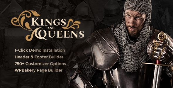 Kings & Queens v1.1.3 – 历史重现WordPress主题