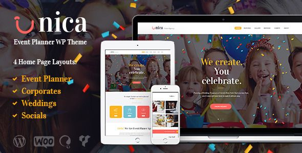 Unica v1.1 – Event Planning Agency Theme