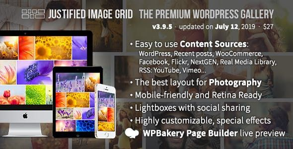 Justified Image Grid v3.9.6 – 高级WordPress画廊主题