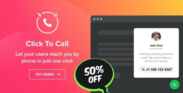 Click to Call v1.2.0 – WordPress呼叫按钮插件
