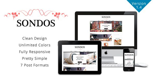 Sondos v1.4 – Clean WordPress Blogging Theme