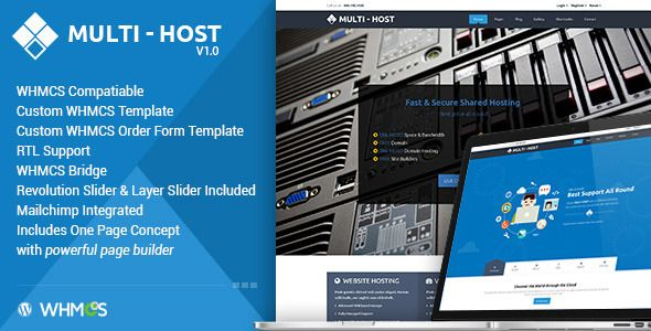 Multi Hosting v1.5.7 – WHMCS Hosting WordPress Theme