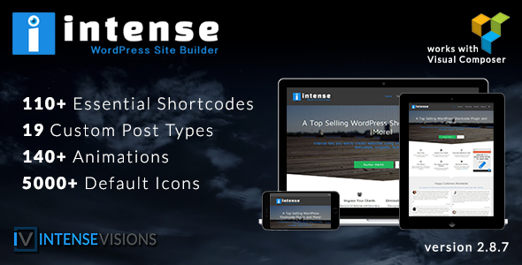 Intense v2.8.9 – Shortcodes and Site Builder for WordPress