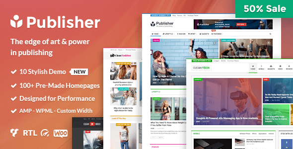 Publisher v1.8.1 – Magazine, Blog, Newspaper and Review