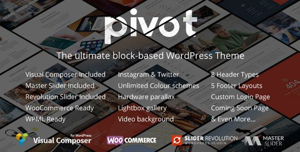 Pivot v1.4.19 – Responsive Multipurpose WordPress Theme