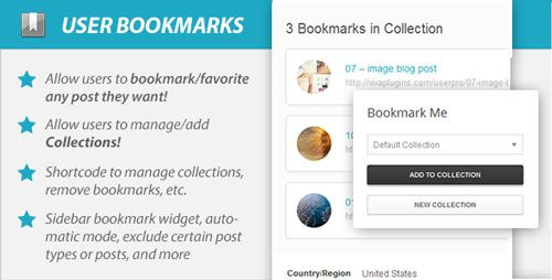 WordPress User Bookmarks (Standalone version) v3.0