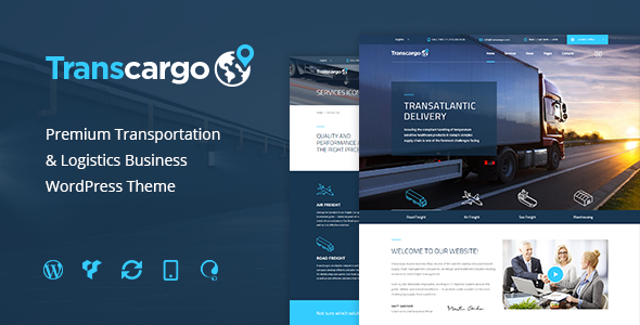 Transcargo v1.4.1 – Logistics & Transportation WP Theme