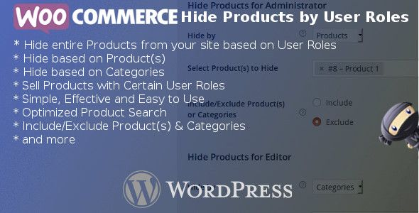 WooCommerce Hide Products by User Roles v4.4