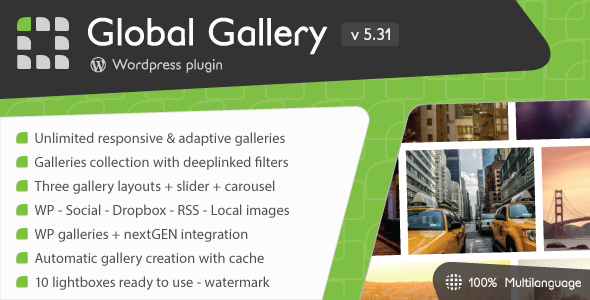 Global Gallery v5.31 – WordPress Responsive Gallery
