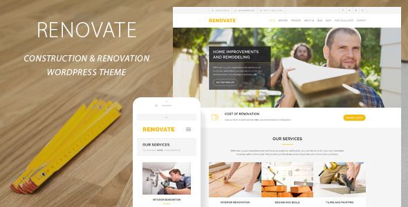 Renovate v3.8.1 – Construction Renovation WordPress Theme
