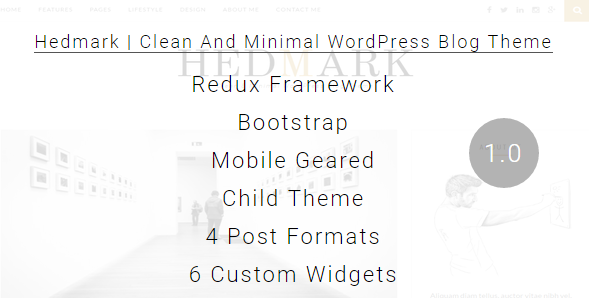Hedmark – Clean & Minimal Responsive WordPress Theme