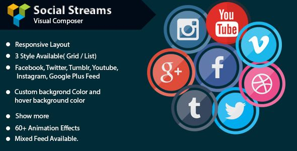 Visual Composer – Social Streams With Carousel v1.5