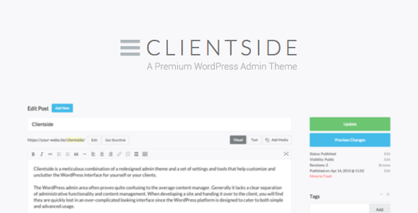 Clientside v1.5.0 – WordPress Admin Theme