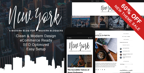 New York v1.0 - WordPress Blog & Shop Theme