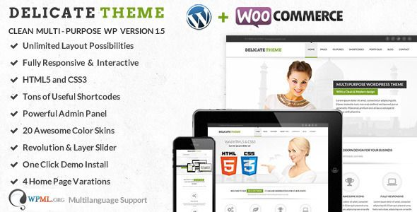 Delicate v2.5.5 – Clean Multi-Purpose WordPress Theme