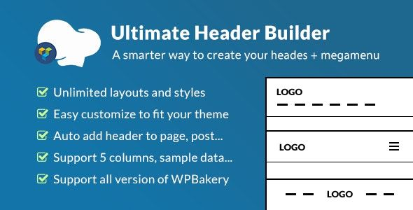 Ultimate Header Builder v1.6.1 – WPBakery页面生成器组件