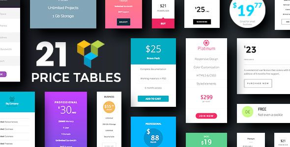 Price Table Addons for Visual Composer WordPress Plugin