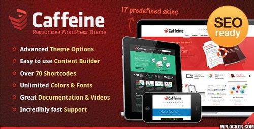 Caffeine v1.7.1 – Responsive WordPress Theme