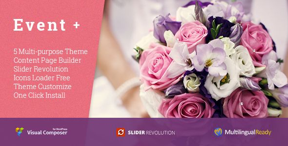EventPlus - Wedding WordPress Theme