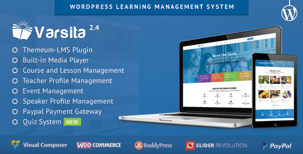Varsita v2.4 – WordPress Learning Management System