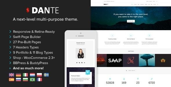 Dante v3.3.50 – Responsive Multi-Purpose WordPress Theme