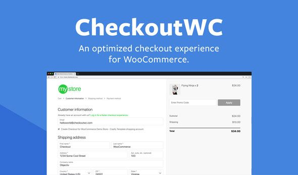 CheckoutWC v3.3.0 – WooCommerce结帐页面优化