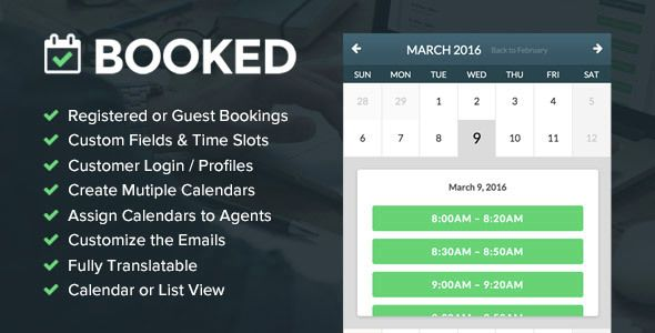 Booked Appointments v1.9.6 – Appointment Booking for WordPress Plugin