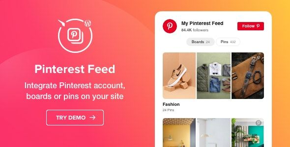 Pinterest Feed v1.2.0 – WordPress Pinterest Feed Plugin