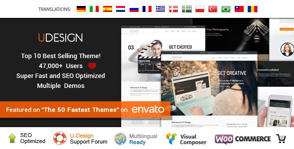 U-Design v2.13.0 – Themeforest WordPress Theme