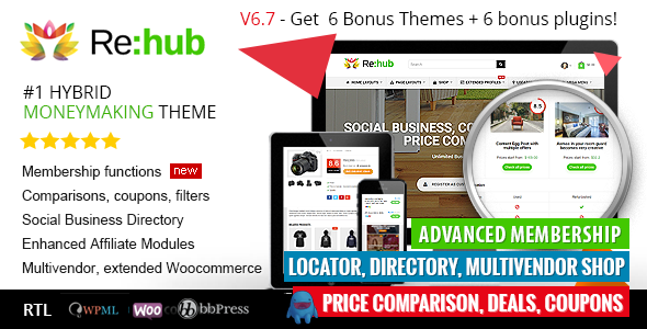 REHub v6.7.1 – Price Comparison / Business Community
