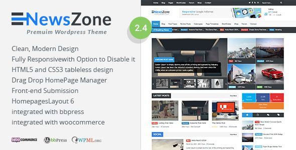 NewsZone v2.4.7 – Responsive & Retina WordPress Magazine